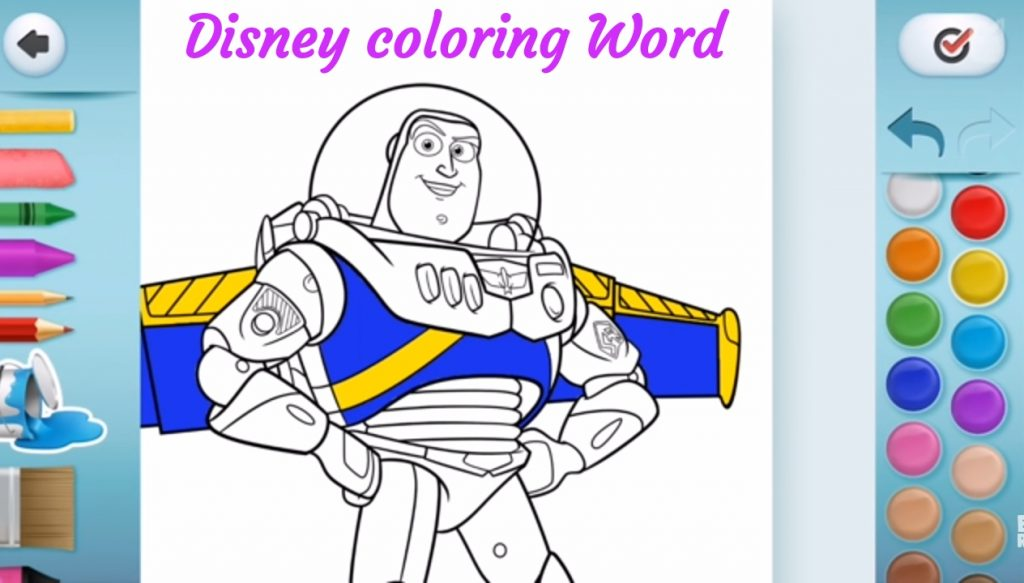 game disney coloring word