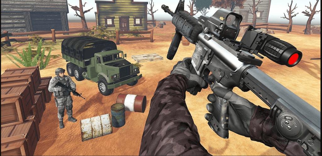 gambar ilustrasi tentang game shooter