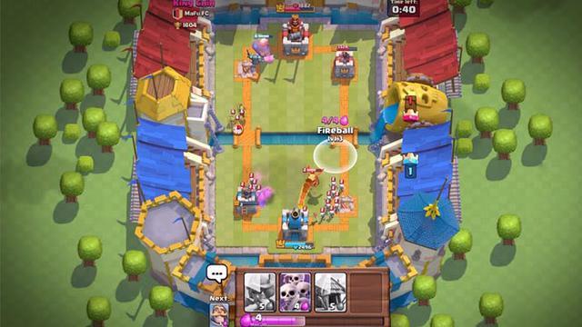 battle pada clash royale