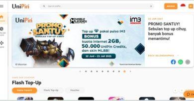 Unipin Tempat Top Up Mobile Legend Murah
