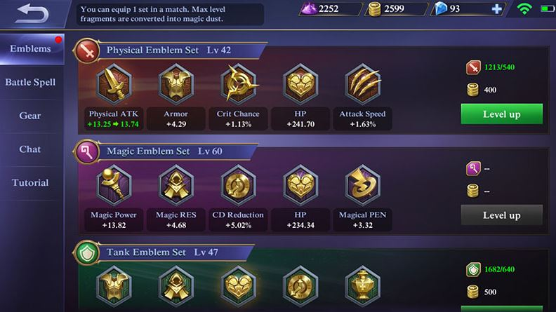 Upgrade emblem hero