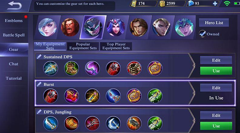 build item untuk hero