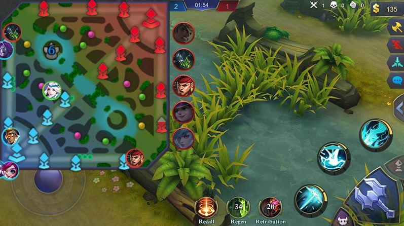 cara bermain mobile legend untuk pemula perhatikan mini map