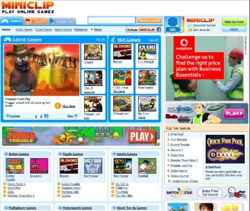 website game online Miniclip