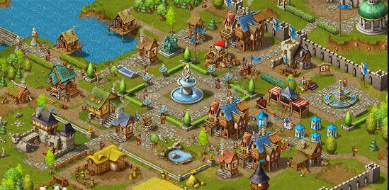 game membangun kerajaan offline Townsmen