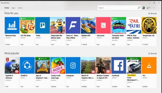 Micrpsoft Windows Store